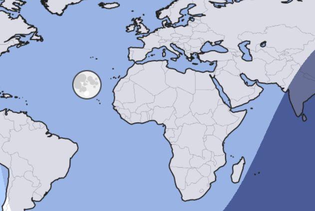 Moon and sun position