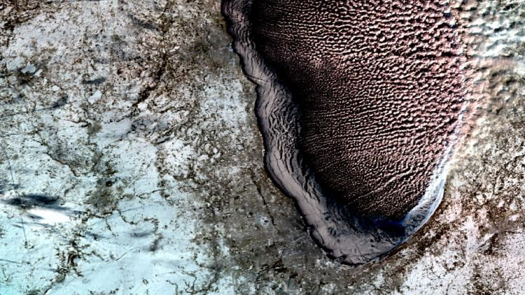 US big freeze as seen from space