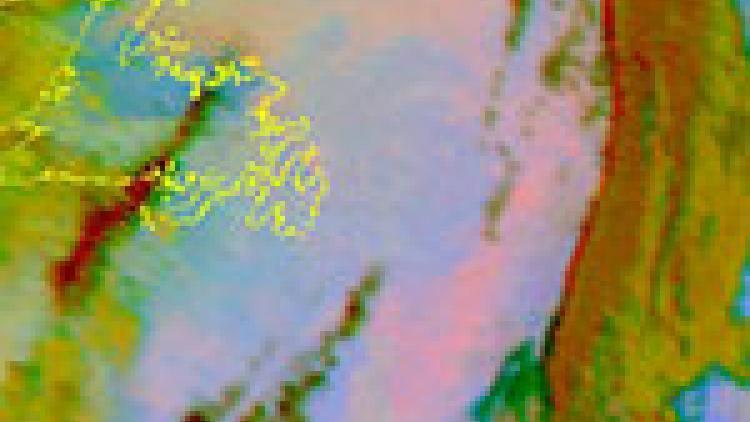 Canadian smoke moves towards North Atlantic