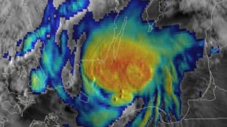 Damaging storms over Central Europe