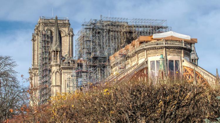 Notre-Dame being restored