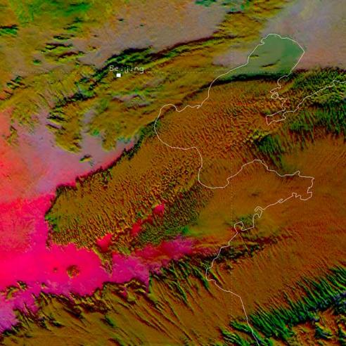 Dust outbreaks sweep through China