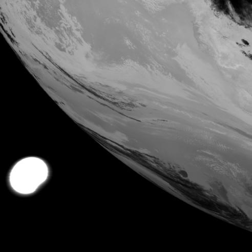Meteosat-8 captures image of partial solar eclipse