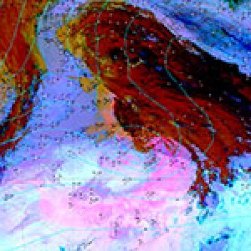 Saharan dust causes temperature drop