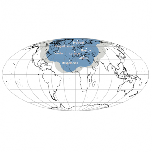 EARS-AVHRR Geographical Coverage Map