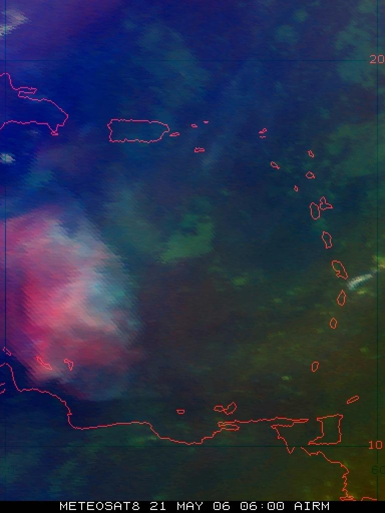 Sulphur dioxide cloud from Soufriere Hills